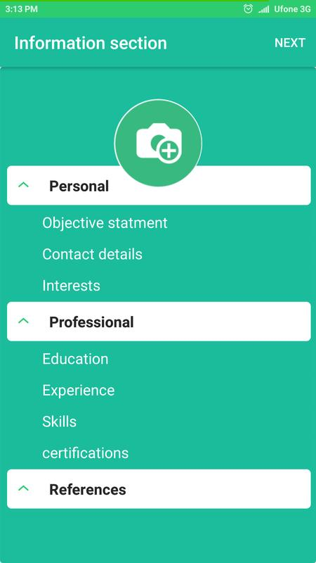 Resume Builder Pro Free Cv For Android Apk Download