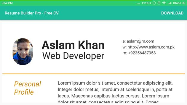 Resume Builder Pro - Free CV for Android - APK Download
