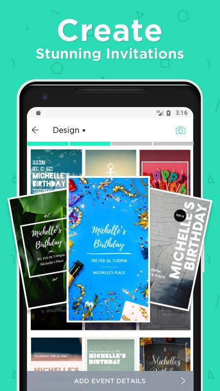 Hobnob invitations invitation maker text rsvp apk download free hobnob invitations invitation maker text rsvp poster stopboris Image collections