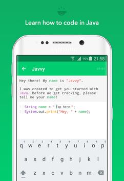 Javvy - Learn to code in Java! poster