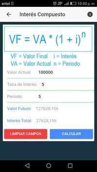 Calculadora Interés Simple y Compuesto screenshot 1