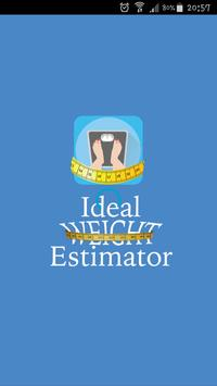 Ideal Weight Estimator - Height to Weight (bmi) poster