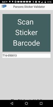 Parsons Sticker Validator poster