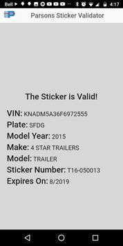 Parsons Sticker Validator screenshot 1