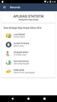 Statistik Raja Ampat screenshot 2