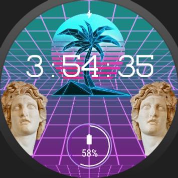 🌴 VaporFace - Vaporwave Watchface apk screenshot