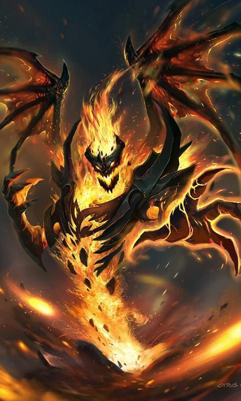 Evil Diablo Live Wallpaper Fantasy Hell Fire For Android Apk