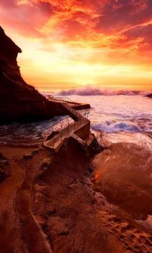 Cliff and ocean live wallpaper screenshot 1
