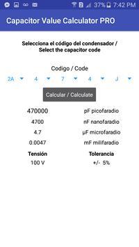 Capacitor Value Calculator screenshot 3