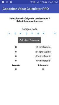 Capacitor Value Calculator screenshot 1