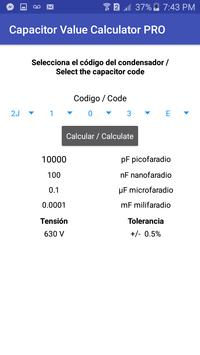 Capacitor Value Calculator screenshot 2