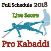 Kabaddi Live Score 2018- schedule & Teams icon