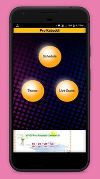 Kabaddi Live Score 2018- schedule & Teams poster