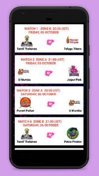 Kabaddi Live Score 2018- schedule & Teams screenshot 2