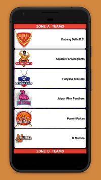 Kabaddi Live Score 2018- schedule & Teams screenshot 4