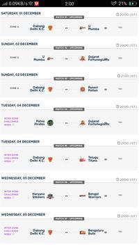 Kabaddi Live Score | Kabaddi 2018 Schedule, Teams screenshot 4