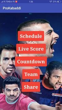 Kabaddi Live Score | Kabaddi 2018 Schedule, Teams screenshot 1