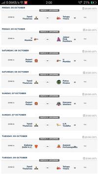 Kabaddi Live Score | Kabaddi 2018 Schedule, Teams screenshot 2