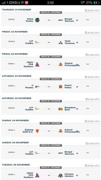 Kabaddi Live Score | Kabaddi 2018 Schedule, Teams screenshot 3