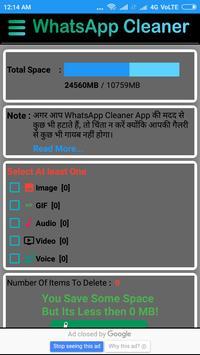 Cleaner for whatsapp pro screenshot 2