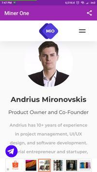 Minerone The World's Biggest Bitcoin Mining apk screenshot