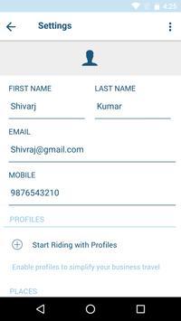 Strap Taxi App UI screenshot 7
