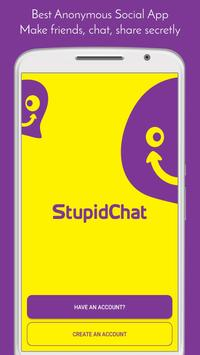 StupidChat - Talk, Meet & Date real people near by poster