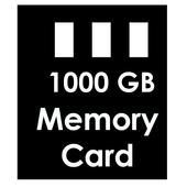 1000GB Memory Card icono