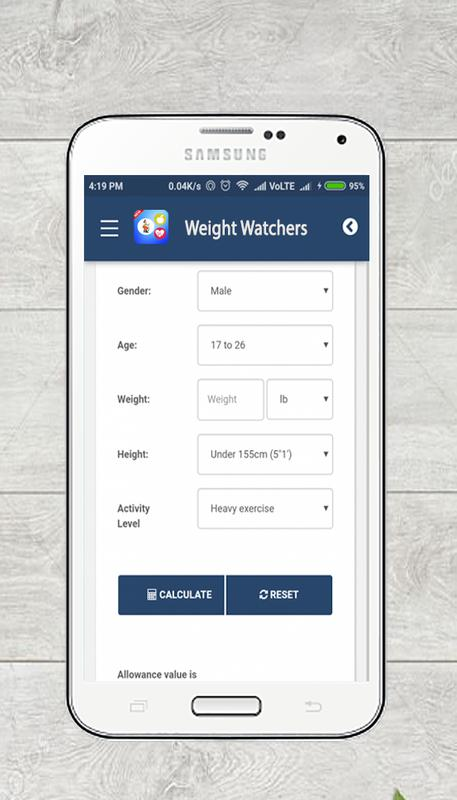 Free Weight Watchers Points Calculator App Fr Android Apk