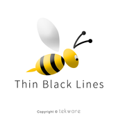 Thin Black Lines icon