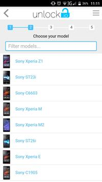 Unlock your Sony Xperia screenshot 1