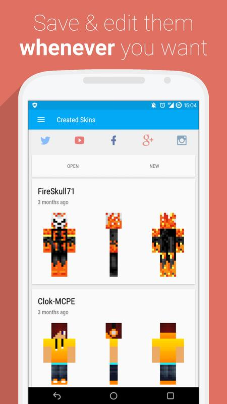 UTKio For Minecraft PE APK Download Free Tools APP For Android - Skins para minecraft 1 8 premium