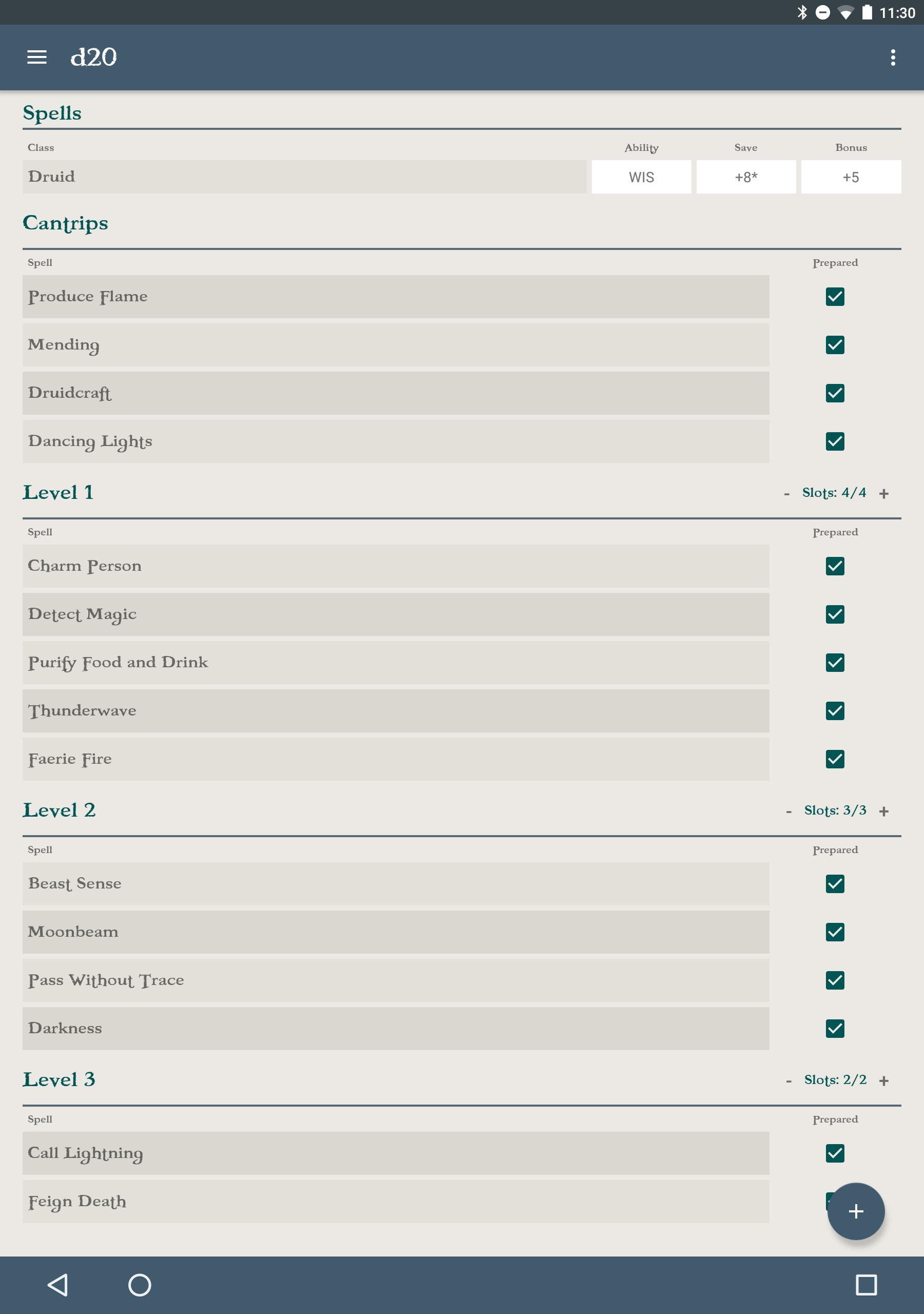 d20 5e Character Sheet for Android - APK Download