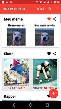 Raiz vs Nutella: meme creator apk screenshot