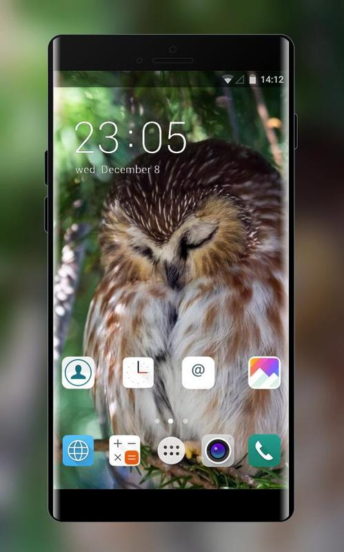 Theme for iBall Vogue 2.6c 3D Owl Wallpaper poster ...