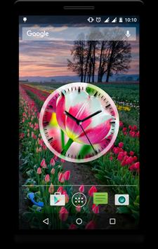 Tulips Clock Live Wallpaper poster