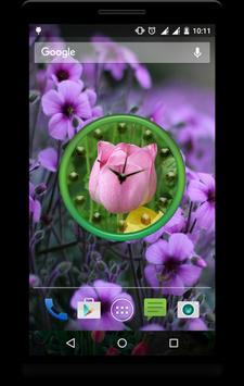 Tulips Clock Live Wallpaper apk screenshot