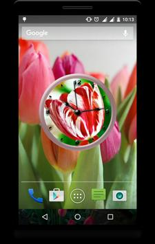 Tulips Clock Live Wallpaper apk screenshot