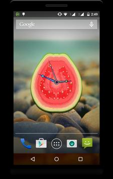 Fruit Clock Live Wallpaper screenshot 5
