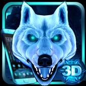 3D Ice White Wolf Theme icon