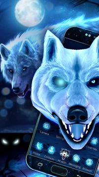 3D Ice White Wolf Theme poster