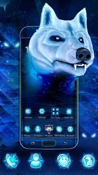 3D Ice White Wolf Theme apk screenshot