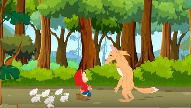 ذات الرداء الاحمر : فديو- قصص اطفال -بدون انترنت apk screenshot