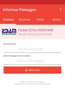 Informasi Pelanggan PDAM Kota Parepare poster