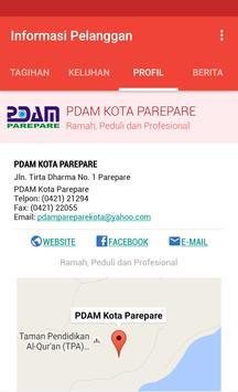 Informasi Pelanggan PDAM Kota Parepare apk screenshot
