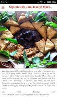 Nasi Uduk Jkt - Mpok Zubaedah screenshot 3