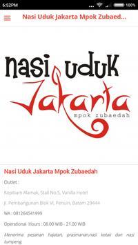Nasi Uduk Jkt - Mpok Zubaedah screenshot 2