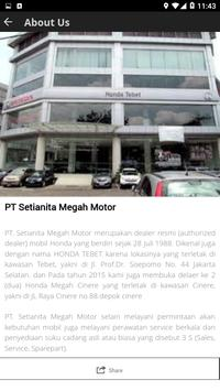 HONDA SETIANITA screenshot 1
