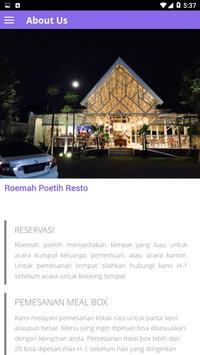 Roemah Poetih Resto screenshot 2
