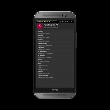 Kuis UAS IPA XI screenshot 1